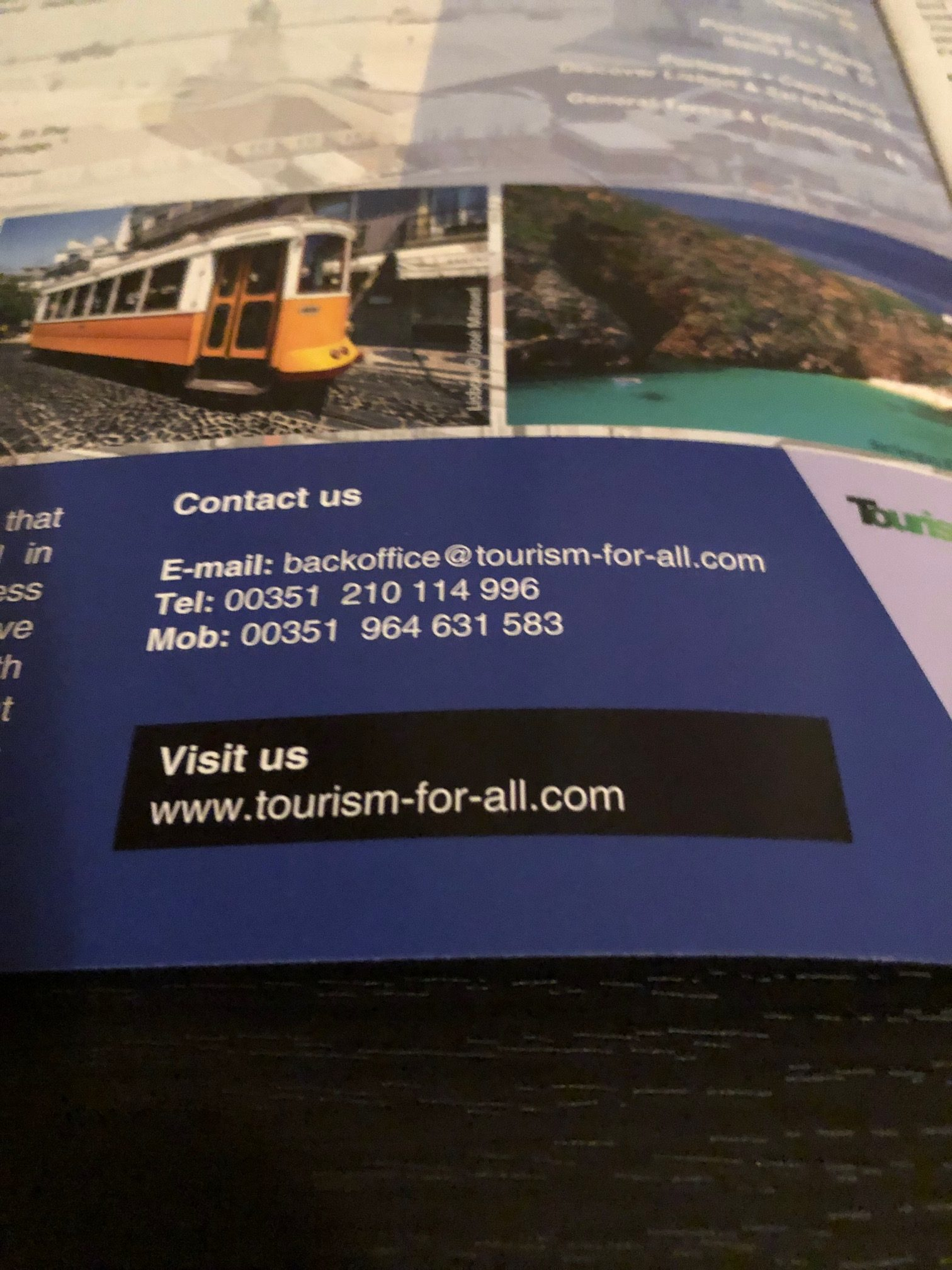 Tourism For All Contact